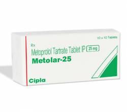 Metolar 25 mg (10 pills)