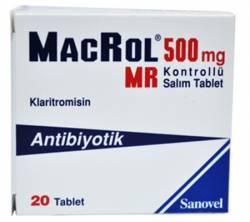 Macrol MR 500 mg (20 pills)