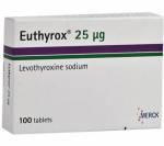 Euthyrox (T4) 25 mcg (50 pills)