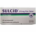 Sulcid 375 mg (10 pills)